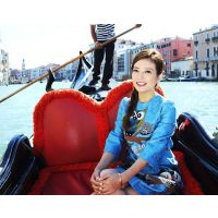大唐DT-GD01 明星坐的欧式船 5米两头尖手划游船 玻璃钢刚朵拉