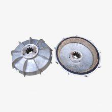 YEZ132S-4锥形转子电机刹车风叶制动轮 4.5/5.5kw电机刹车盘 适用搅拌机起重机设备