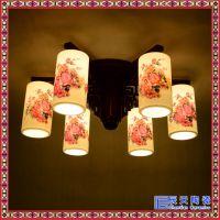 酒店大堂复式楼梯旋转灯景德镇陶瓷吊灯古典艺术现代陶瓷灯