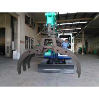 龙圣重工专业生产60/75/80轮挖全自动液压旋转抓木器挖机抓石器挖机甘蔗夹