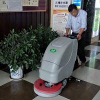 即墨长江学校采购合美全自动洗地机清洁餐厅地面