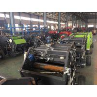山东稻草捡拾打捆机厂家 自动稻草回收式压捆机图片和视频