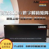 微智体网络数字监控矩阵厂家8屏H265单屏25分割800万解码会议主机