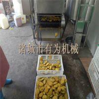 炸茄盒生产设备 茄盒上浆裹粉油炸机生产工艺 上浆裹粉油炸成套设备