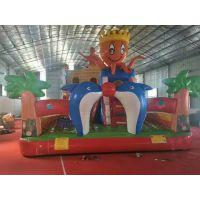 儿童室内蹦蹦床玩具 广场游乐场充气城堡滑梯 批发出口30平小弹跳床