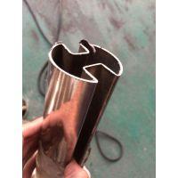 金弘德 定制304不锈钢双凹槽管 304不锈钢双槽圆管