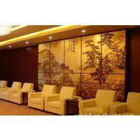 酒店餐厅大型背景陶瓷壁画定做,中式瓷板画供应厂家