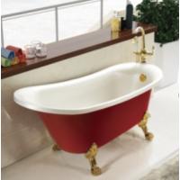 独立式亚克力彩色贵妃高档彩金古典浴缸