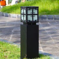 启正科技供应--公园小区景点庭院街道户外草坪灯防水方形复古照明灯