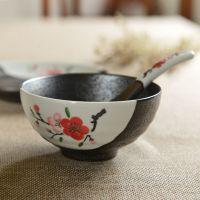 三分青花瓷摆台碗饭碗陶瓷家用米饭日韩式创意餐具餐厅火锅店农家