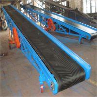 复合肥装卸车用U型爬坡皮带输送机 六九护栏型装车用皮带输送机