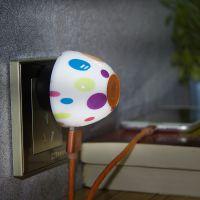 黑彩手机通用充电器创意充电器头蘑菇小夜灯手机充电器个性小礼品