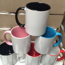 定制礼品杯厂家|云南马克杯生产|白瓷杯印刷|陶瓷内彩杯
