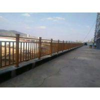 济宁锌钢河道围栏,Q235济宁喷塑围墙栏杆HC,公路京式护栏,仿木纹道路护栏,