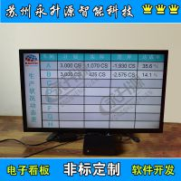 苏州永升源工业流水线生产管理看板电子显示屏局域网查询ERP数据库对接RS485P10单元板显示屏