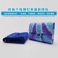 广东硅胶背包工厂 众盛女士硅胶双肩背包定制厂家