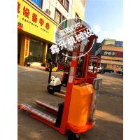 鑫力 2吨2米高半电动液压堆高车 轻型半电动升高装卸铲车