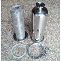 304不锈钢卫生级过滤器保健用品厂用法兰式除菌过滤器晨兴专业品质