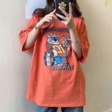 江苏无锡便宜韩版时尚女装短袖大版T恤2018新款女士T恤清货赶集甩卖服装货源批发