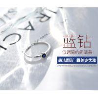 2018新款时尚冷淡风纯银骨戒指女士关节韩版装饰戒指女食指不褪色