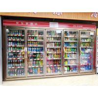 广州安德利制冷设备厂直销超市京东便利店冷藏饮料展示柜进口压缩机组高效节能23456门豪华饮料柜后补式