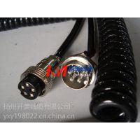 扬州开美专业生产有线遥控7芯螺旋电缆