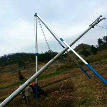三角抱杆 山区立电杆工具 人工立杆三角立杆机 洪涛电力直销