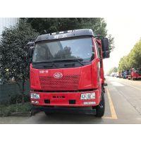 拖25吨挖机的解放J6小三轴平板运输车多少钱一辆