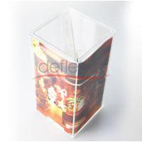 四方桌面宣传牌,亚克力盒架,亚克力展示定做设计,展示架定做加工,有机玻璃加工厂