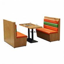 现代西餐厅卡座沙发桌子组合,板式卡座桌子供货商