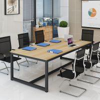 新款长条方桌简易员工桌洽谈培训会议桌简约现代职员定制办公桌