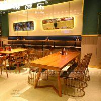 西餐厅实木桌子西餐厅实木桌椅定做生产厂家