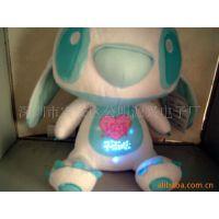 厂家直销创意发光毛绒玩具小熊小机器人闪光玩具音乐发光礼品玩具