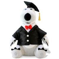 早教学习智能毛绒儿童玩具小博士贝肯熊倒霉熊短毛绒制作