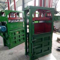 编织袋压块机 富兴废品半自动打包机 100吨双杠金属压包机厂家