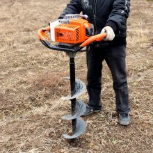 汽油旋转挖坑机 富兴电线杆打眼机 水泥杆钻孔机批发价
