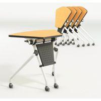 折叠培训桌 板式学生学习条桌 众晟组合会议桌