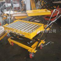 厂家定制手动 电动滚筒滚珠液压平台车 移动升降平台 换模具台车