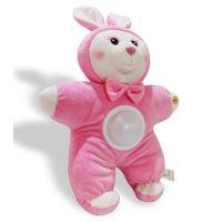 声光安抚兔子毛绒公仔安抚音乐兔子婴幼儿童毛绒玩具短毛绒制作
