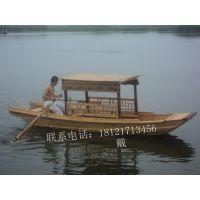 推广景区私人定制 船旅游船 观光船 手划船休闲木船 带篷船 可来图定制