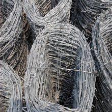 菱形刀片刺网 刺绳焊接网 刺绳护栏网