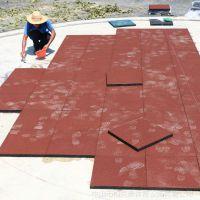 广西幼儿园安全地垫 室外公园橡胶地垫 柏克体育2.5cm厚地垫定制