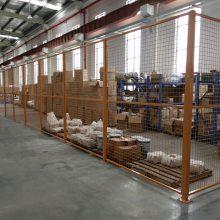 广州工厂车间隔离网定做 中护围栏专业生产仓库隔离网 佛山仓储隔离栅