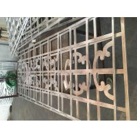 广东德普龙木纹铝型材窗花加工定制欢迎选购