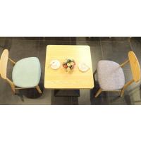 倍斯特日式全实木桌椅原木色咖啡组合甜品奶茶快餐餐桌厂家定制