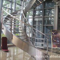耀荣 厂家定制304不锈钢工程立柱挂玻璃楼梯扶手实心栏杆室外围栏护栏QI21