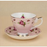 奥美 欧式骨质瓷包金咖啡杯套装 下午茶水杯 定制陶瓷商务礼品加logo
