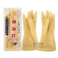 雄泰劳保用品 防护手套 乳胶手套 工业胶手套 牛筋手套加厚