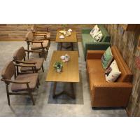 倍斯特定制简约现代餐厅实木扶手椅复古休闲料理奶茶软包餐椅
