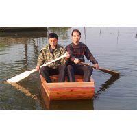 鱼塘手划小渔船 打鱼撒网小木船 木质划桨厂家直销小渔船